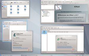 KDE-Anwendungen KMail und Dolphin